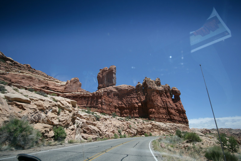 rock formations near Arches National Park main entrance
