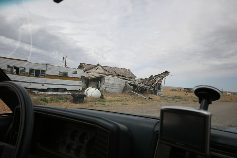 collapsed buildings in Cisco, UT