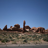 Hoodoo along the road in Arches National Park