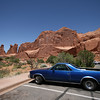 the El Camino and Park Avenue rock formation in Arches National Park, Utah