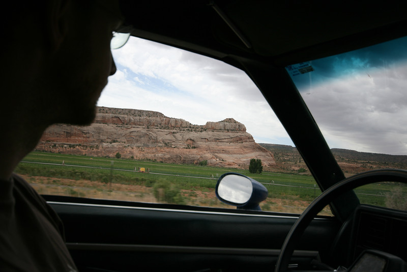 red cliffs on the drive to Moab on Hwy 128