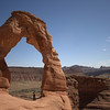 SkyTee under Delicate Arch in Arches National Park in Utah