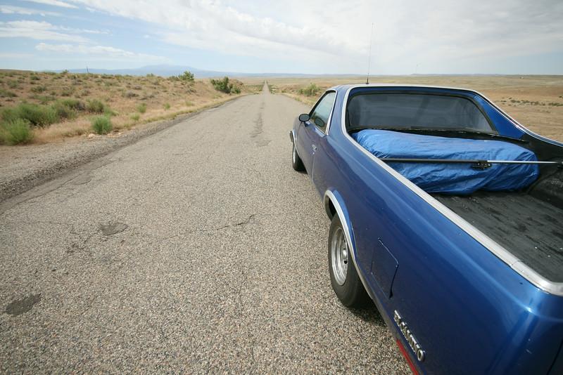 the El Camino on Highway 128 towards Moab, Utah