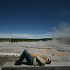 at the Great Fountain Geyser