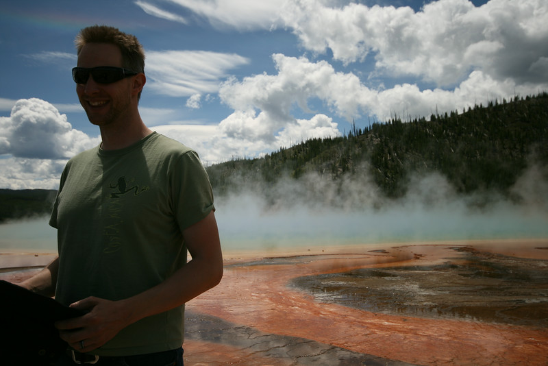 SkyTee at the Grand Prismatic Spring