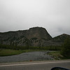 driving into Yellowstone park from the west entrance