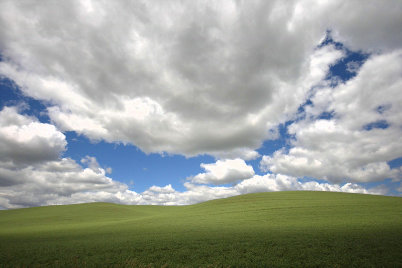 windoze xp desktop, the view for an hour of driving