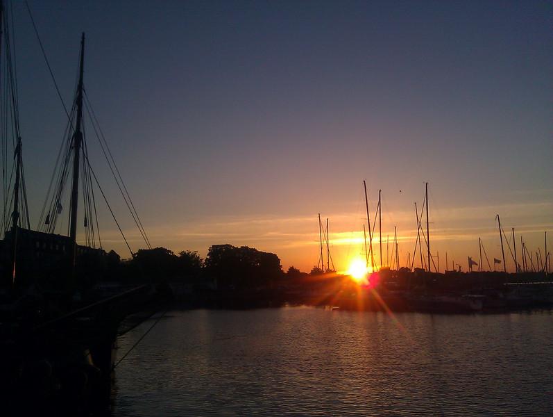 sunset Stralsund