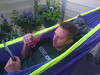 skytee has put up a hammock on the balcony