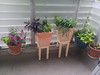 planter stands, thought up by me, brilliantly engineered by skytee
