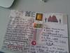 sent andrew a postcard