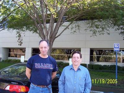 Allan Radman and Steve at Palmer Chiropractic College