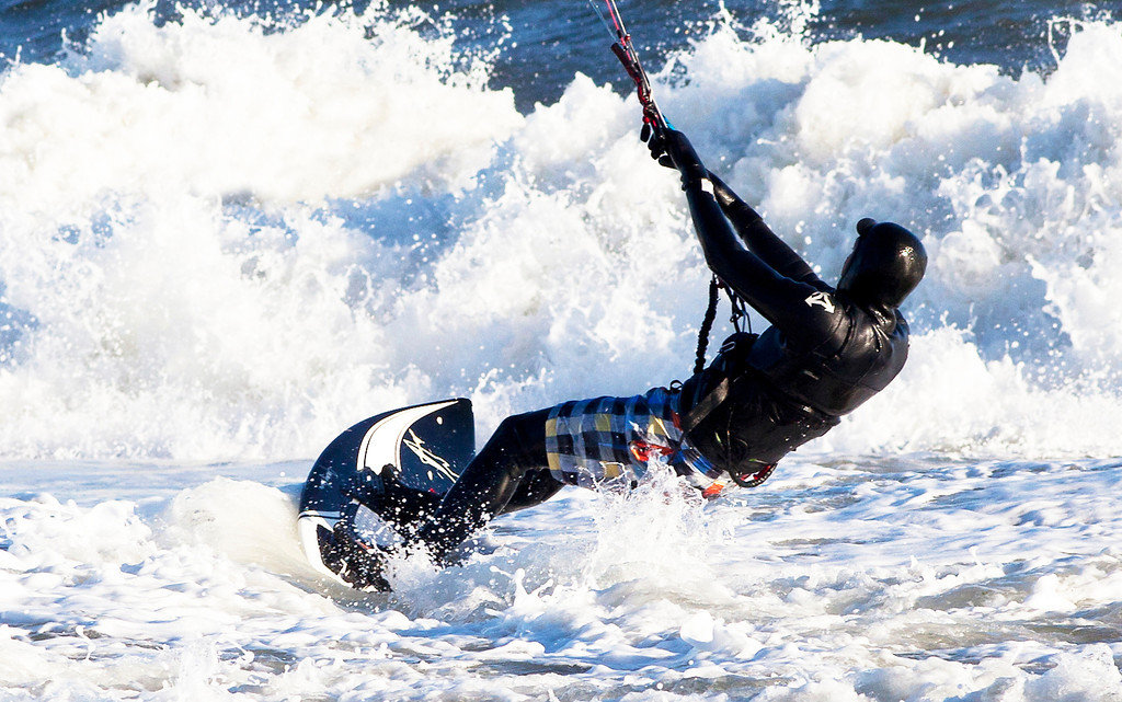 Kite Surfer,  Winter, Georgica Beach