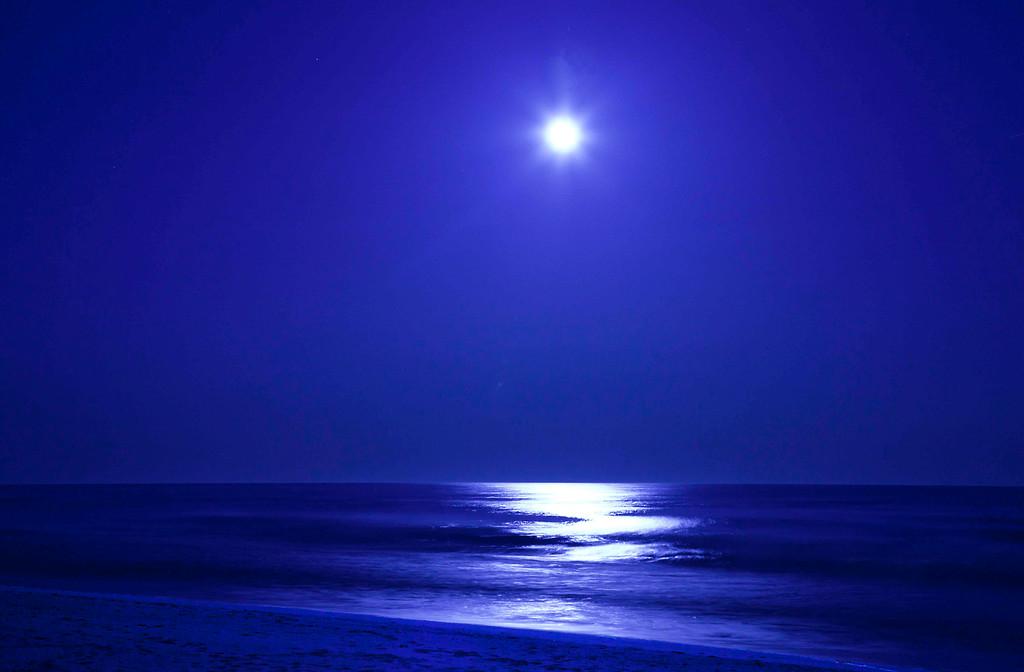 Full Moon Over Main Beach