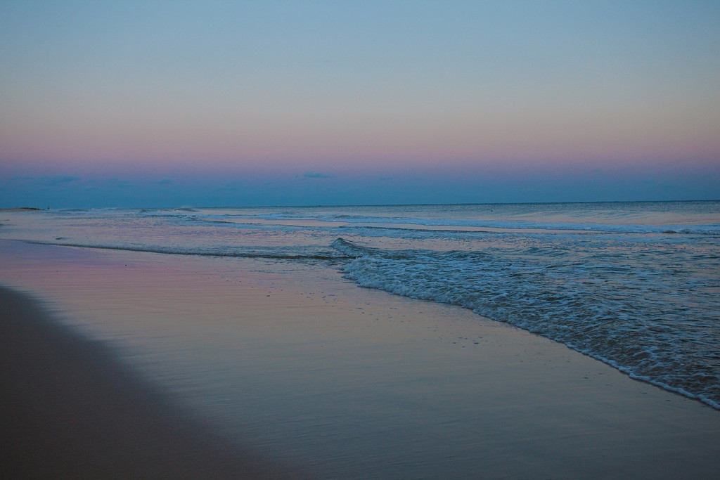 Dusk, Main Beach, East Hampton, Winter
