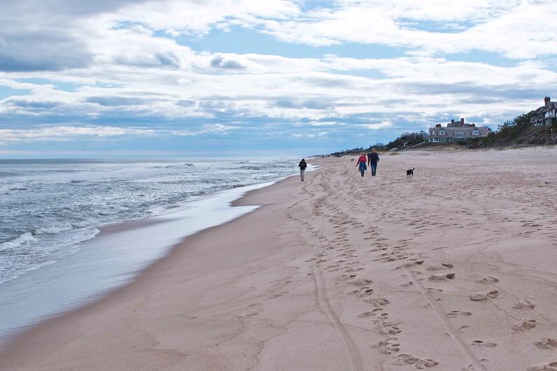 Walk on Main Beach, Cool April Day