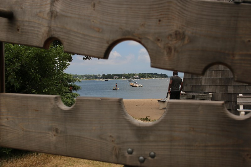 View Through the Stocks, Sag Harbor