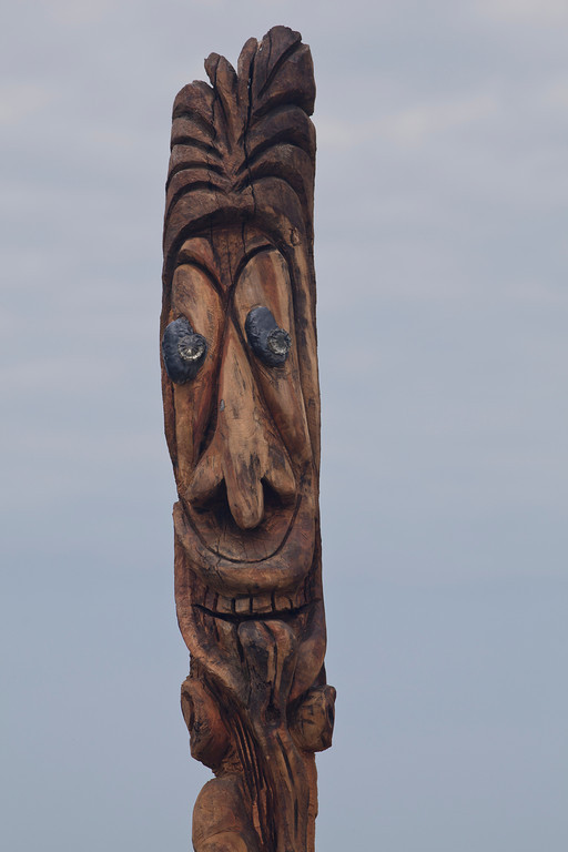 Driftwood Carving, Entrance to Ditch Plains Beach