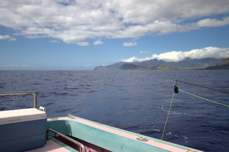 fishing off of the south side of Oahu