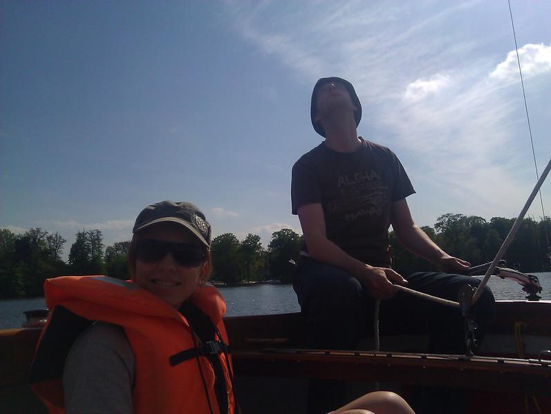 sailing on tegeler see with carina   skytee