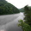 unreal mist on the river