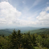 view of the smoky mountains from clingman's dome