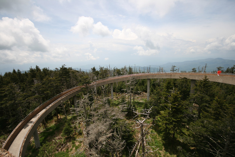 curve of viewing platform on clingman's dome