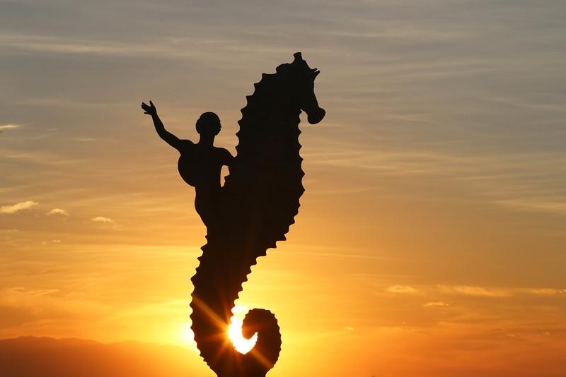 Seahorse Sculpture, Malecon, Puerto Vallarta