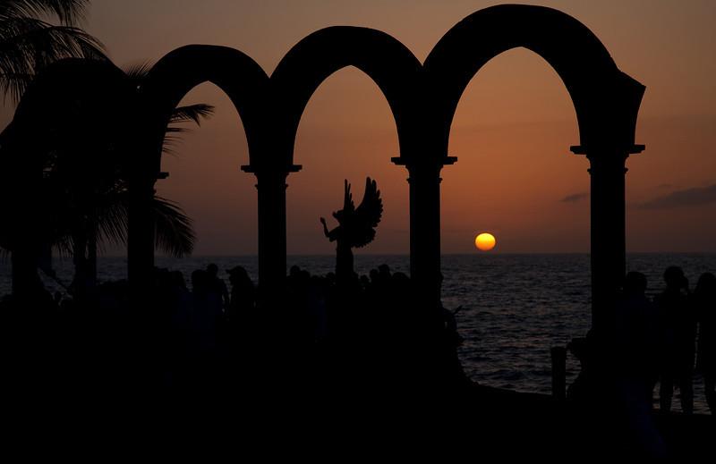 Sunset, Los Archos, Malecon, Puerto Vallarta