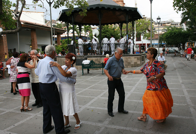 Dancing to the Banda Municipal, Town Square, Puerto Vallarta