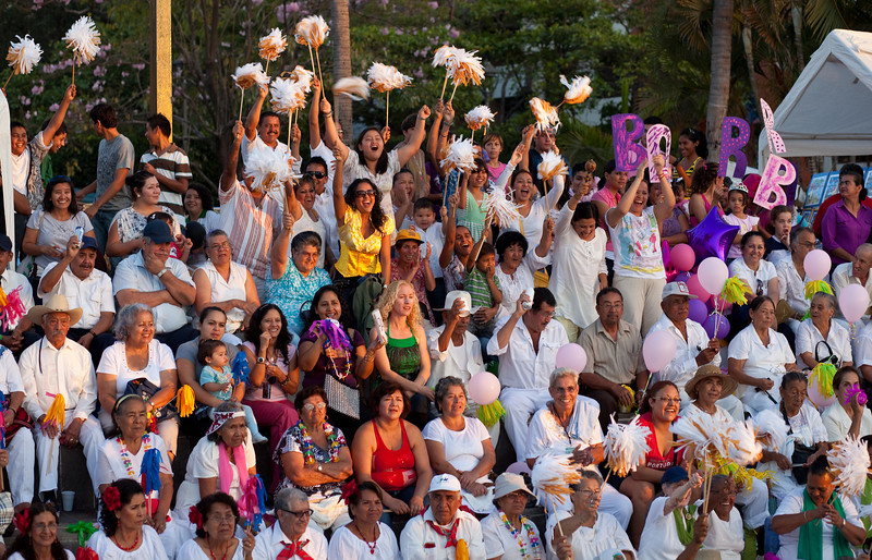 Spectators and Supporters, Contest for Best Grandmother in Region, Puerto Vallarta Town Square