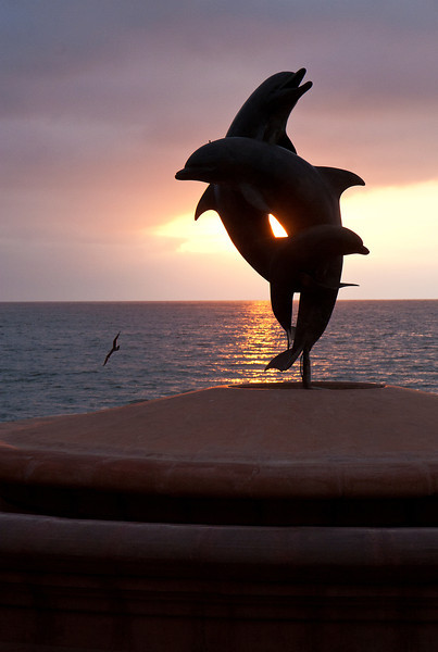 Sculpture by James Bottoms, Malecon, Puerto Vallarta