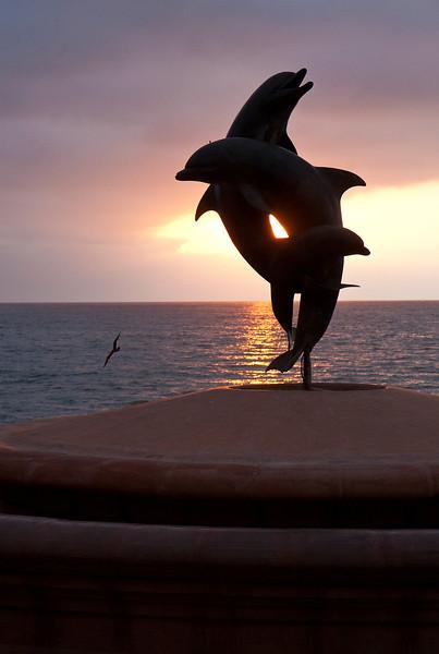 Sculpture by James Bottoms, Malecon, Puerto Vallarta