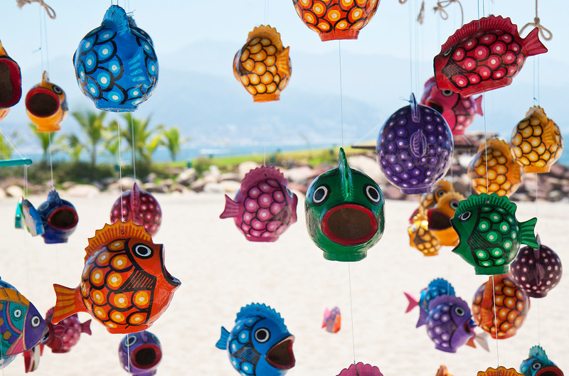 Fish Made from Coconut Shells, Puerto Vallarta, Mexico