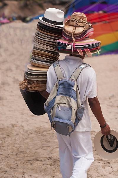 Hat Salesman, Playa Dos Muertos, Puerto Vallarta