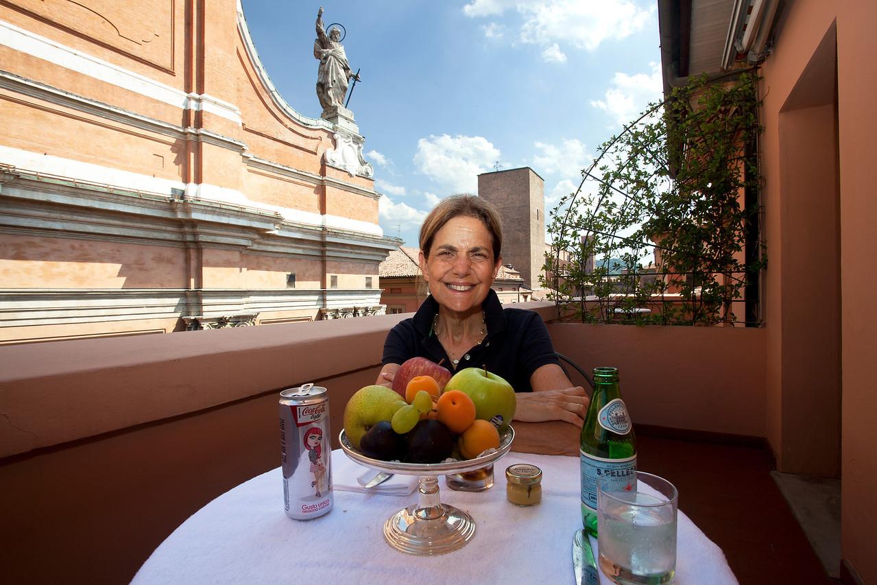 Balcony of Hotel Room Bologna