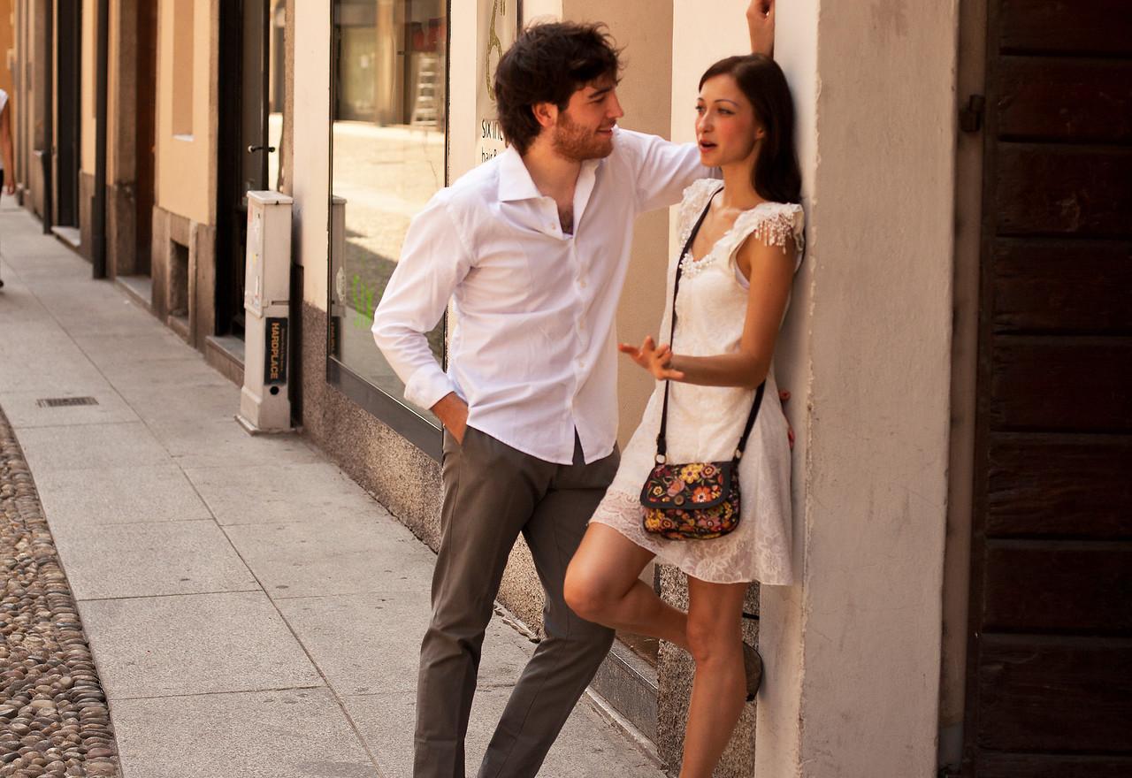 Couple in Brera (Milan's Soho)