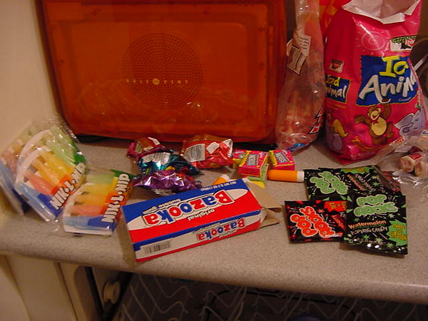 we had a little bit of candy