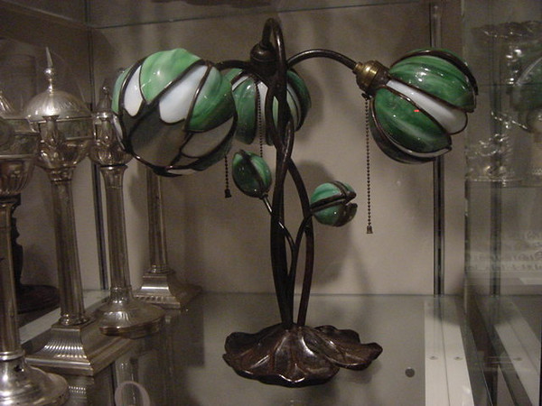 tiffany lamp deep inside the met