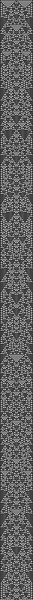 wolfram 1d cellular automata, ruleset 01001001, 55 pixels/stitches wide, 1001 long.