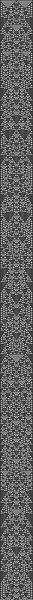 wolfram 1d cellular automata, ruleset 01001001, 55 pixels/stitches wide, 1001 long.