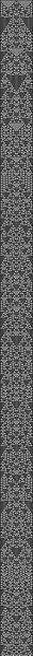 wolfram 1d cellular automata, ruleset 01001001, 51 pixels/stitches wide, 1001 long.