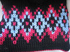 three color fair isle, up to four colors per row