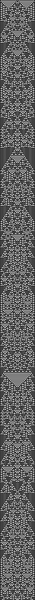 wolfram 1d cellular automata, ruleset 01001001, 59 pixels/stitches wide, 1001 long.
