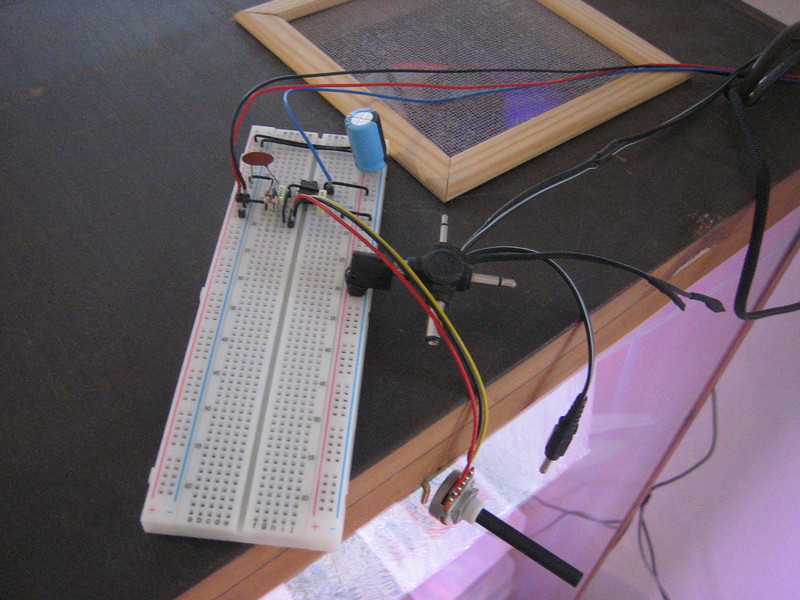 the orchidarium's fan controller board: pulse width modulation with a potentiometer for manual fan speed control.