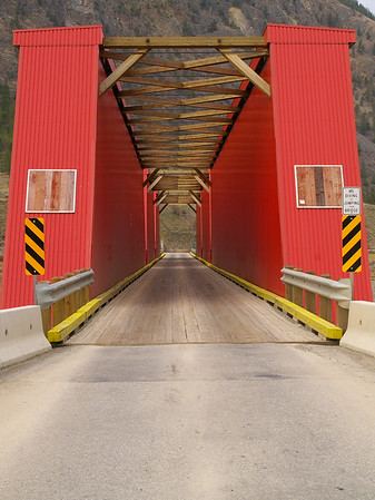 Keremeos B.C. Red Bridge on the Ashinola road.