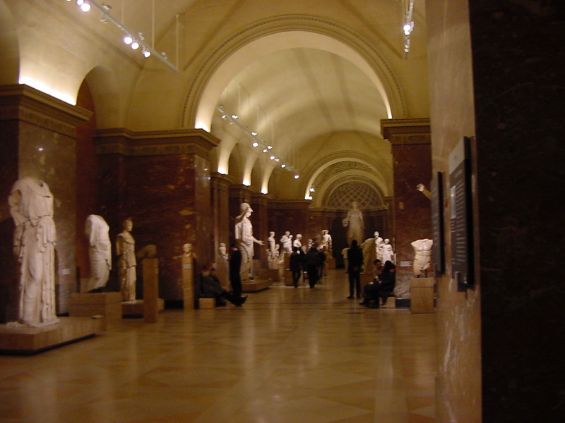 late night at the louvre
