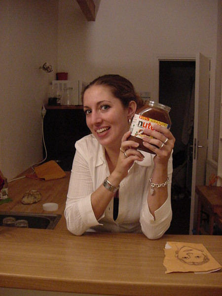 brieanne demonstrates the virtues of nutella