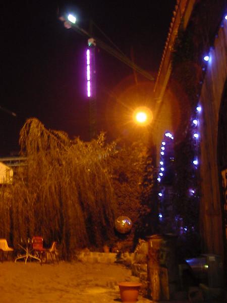 neon lights at les voutes