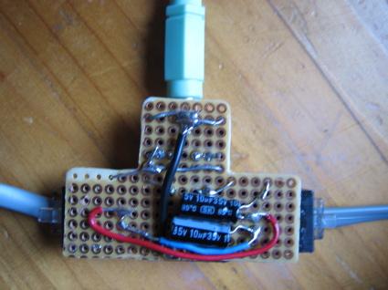 underside plugged in